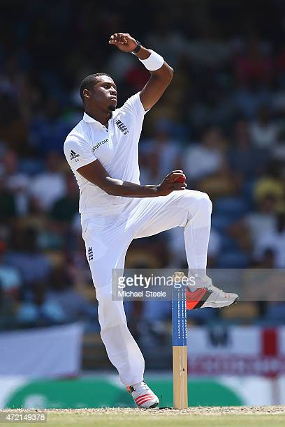 Chris Jordan of England during day three of the 3rd Test match between West Indies and England at Kensington Oval on May 3 2015 in Bridgetown Barbados