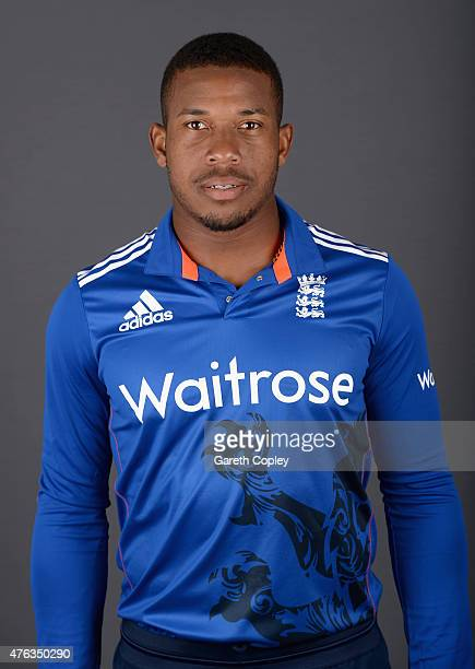 Chris Jordan of England poses for a portrait at Edgbaston on June 8 2015 in Birmingham England