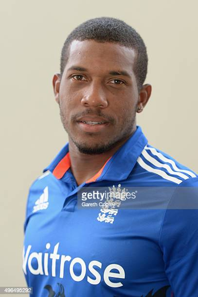 Chris Jordan of England poses for a portrait at Zayed Cricket Stadium on November 10 2015 in Abu Dhabi United Arab Emirates