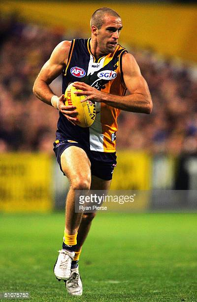 Chris Judd for the Eagles in action during the round sixteen AFL match between The West Coast Eagles and The Essendon Bombers at Subiaco Oval on July...