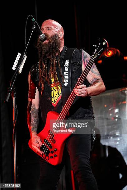 Chris Kael from Five Finger Death Punch performs during the 'Louder Than Life' Music Festival in Champions Park on October 05 2014 in Louisville...