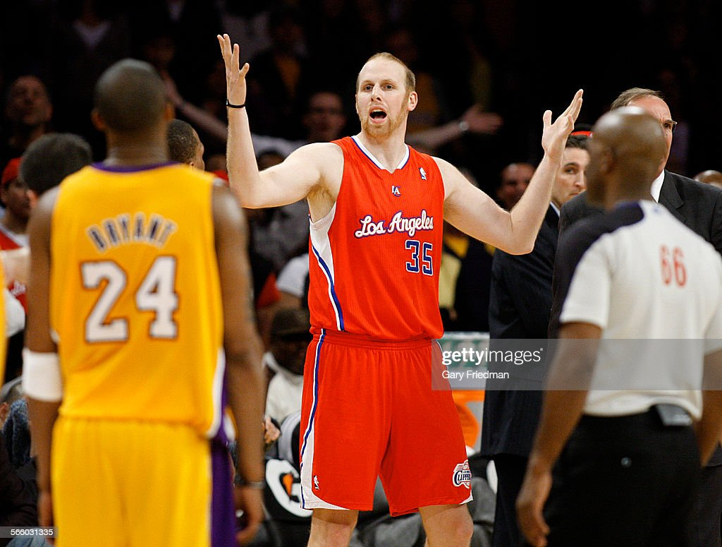 Chris Kaman of the Clippers is ejected after drawing double