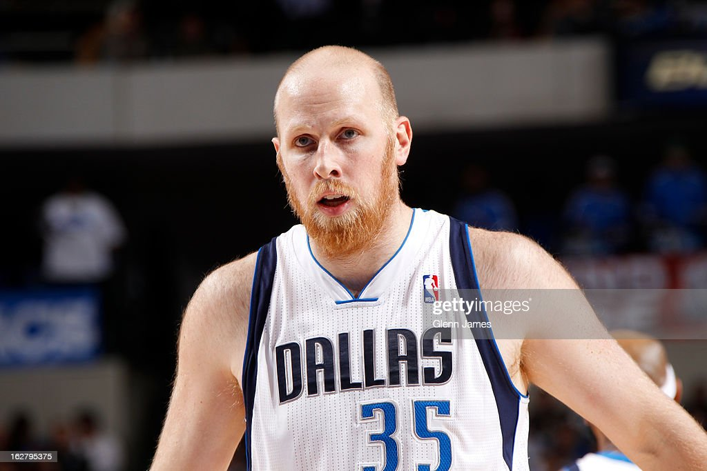 <a gi-track='captionPersonalityLinkClicked' href=/galleries/search?phrase=Chris+Kaman&family=editorial&specificpeople=201661 ng-click='$event.stopPropagation()'>Chris Kaman</a> #35 of the Dallas Mavericks attempts a foul shot in the game against the Los Angeles Lakers on February 24, 2013 at the American Airlines Center in Dallas, Texas.
