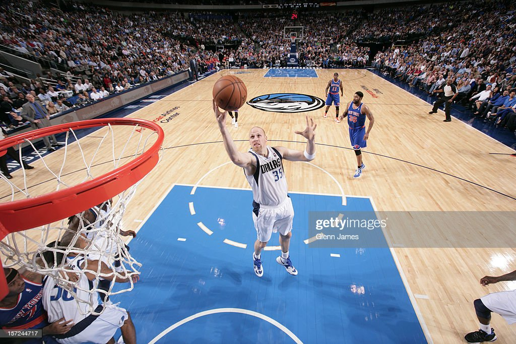 <a gi-track='captionPersonalityLinkClicked' href=/galleries/search?phrase=Chris+Kaman&family=editorial&specificpeople=201661 ng-click='$event.stopPropagation()'>Chris Kaman</a> #35 of the Dallas Mavericks puts up a shot against the New York Knicks on November 21, 2012 at the American Airlines Center in Dallas, Texas.