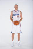 Chris Kaman of the Los Angeles Clippers poses for a picture during media day at the Clippers Training Center on September 27 2010 in Playa Vista...