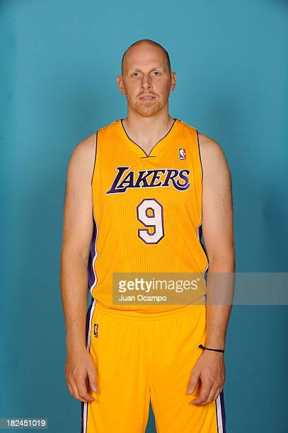 Chris Kaman of the Los Angeles Lakers poses for a head shot during media day at Toyota Sports Center on September 28 2013 in El Segundo California...