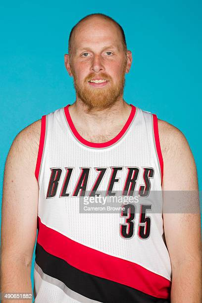 Chris Kaman of the Portland Trail Blazers poses for a head shot during media day on September 28 2015 at the MODA Center Arena in Portland Oregon...