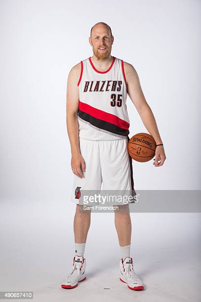 Chris Kaman of the Portland Trail Blazers poses for photos during the annual Media Day September 28 2015 at the Moda Center in Portland Oregon NOTE...