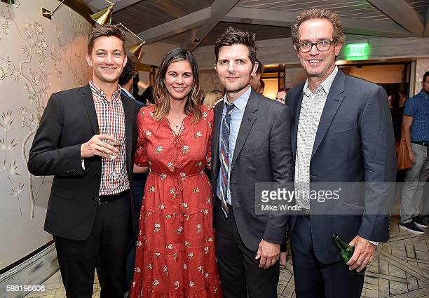 Chris Kelly Naomi Scott Adam Scott and Sam Bisbee attend the after party for the premiere of Vertical Entertainment's 'Other People' on August 31...