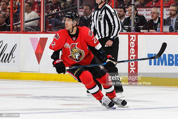 Chris Kelly of the Ottawa Senators skates against the Detroit Red Wings at Canadian Tire Centre on December 29 2016 in Ottawa Ontario Canada