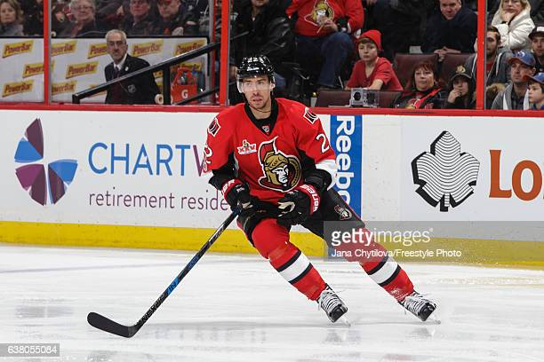 Chris Kelly of the Ottawa Senators skates against the Edmonton Oilers at Canadian Tire Centre on January 8 2017 in Ottawa Ontario Canada