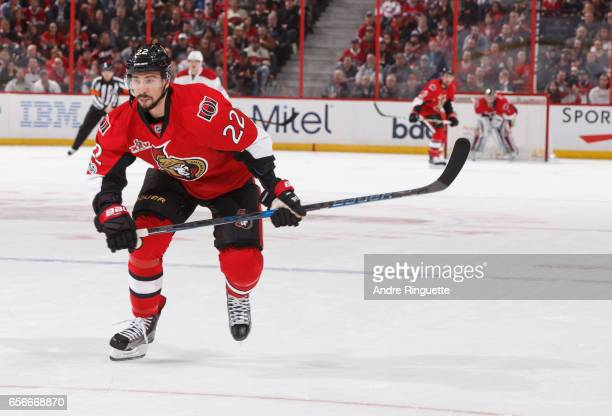 Chris Kelly of the Ottawa Senators skates against the Montreal Canadiens at Canadian Tire Centre on March 18 2017 in Ottawa Ontario Canada
