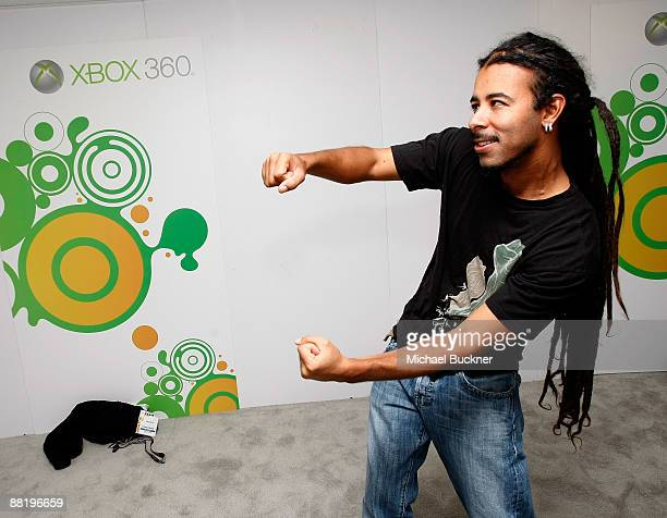 Chris Kilmore of Incubus plays Project Natal at the XBox Booth during E3 at Los Angeles Convention Center on June 3 2009 in Los Angeles California