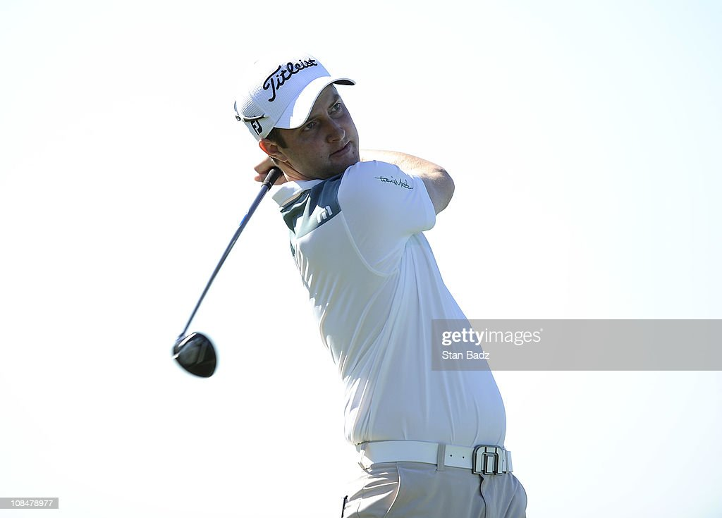 Chris Kirk hits from the fourth tee box during the second round of the Farmers Insurance Open held at Torrey Pines Golf Course on January 28 2011 in...