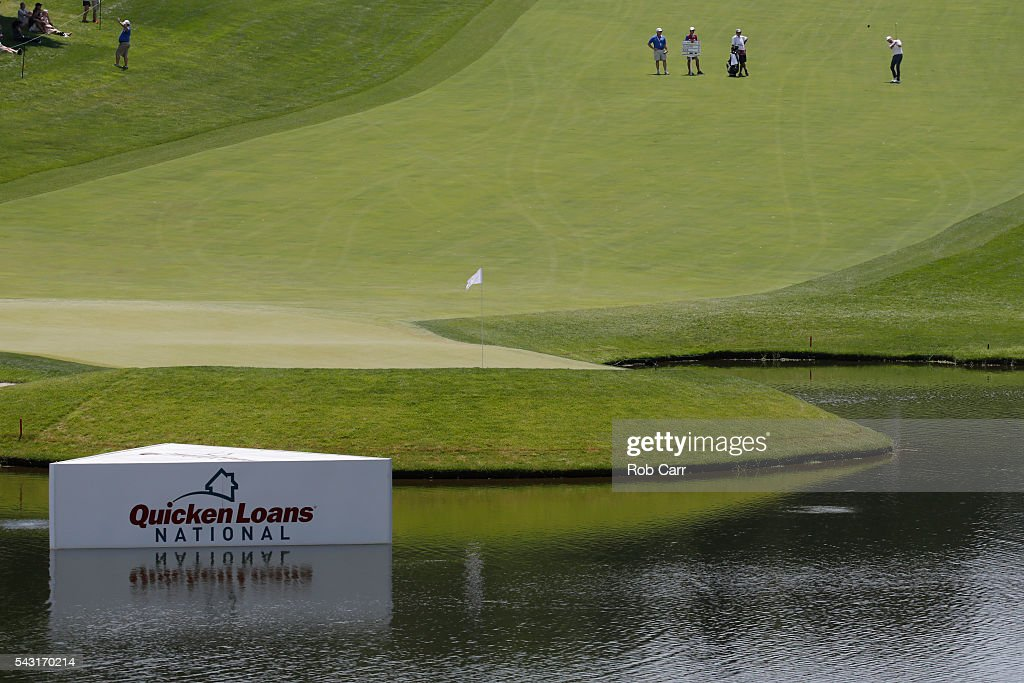 <a gi-track='captionPersonalityLinkClicked' href=/galleries/search?phrase=Chris+Kirk&family=editorial&specificpeople=3973095 ng-click='$event.stopPropagation()'>Chris Kirk</a> plays a shot on the 18th hole during the final round of the Quicken Loans National at Congressional Country Club on June 26, 2016 in Bethesda, Maryland.