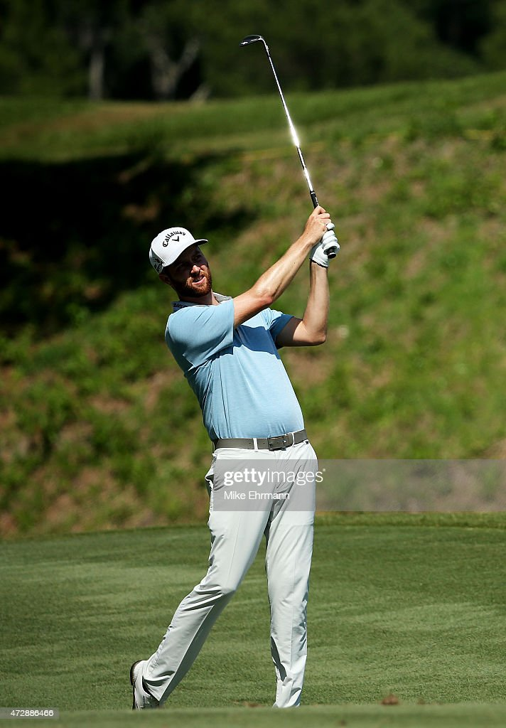 Chris Kirk plays a shot on the sixth hole during the final round of THE PLAYERS Championship at the TPC Sawgrass Stadium course on May 10 2015 in...