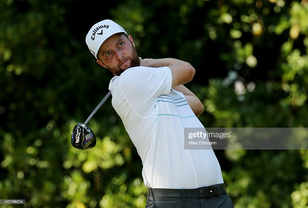 Chris Kirk plays his shot from the 11th tee during round three of THE PLAYERS Championship at the TPC Sawgrass Stadium course on May 9 2015 in Ponte...