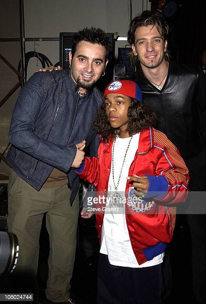 Chris Kirkpatrick Lil' Bow Wow JC Chasez during The 29th Annual American Music Awards Arrivals at The Shrine Auditorium in Los Angeles California...