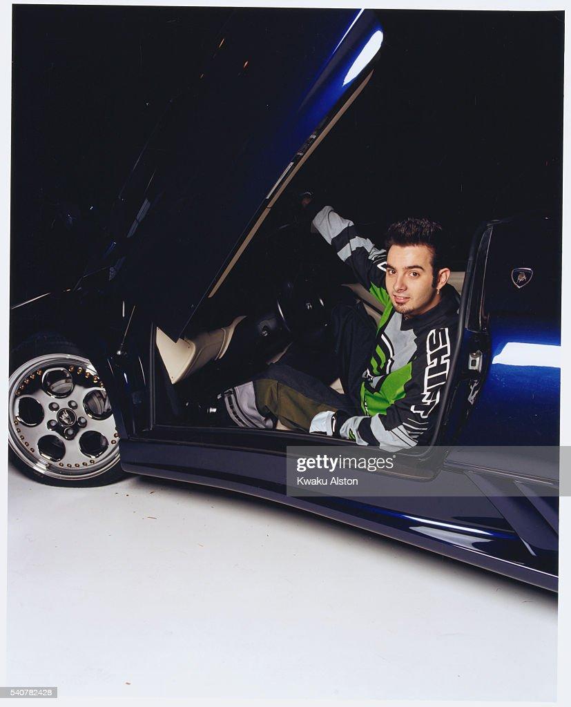 Chris Kirkpatrick in a Sports Car