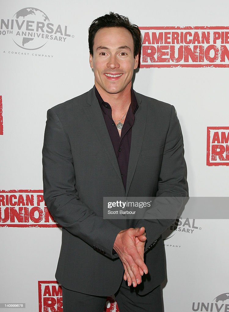 Chris Klein arrives at the Australian premiere of 'American Pie: Reunion' on March 7, 2012 in Melbourne, Australia.