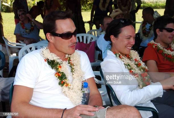Chris Klein Debbie Klein during Kelly Slater Invitational Fiji Day 2 Mome Village Tour in Mome Village Tavarua Island Fiji