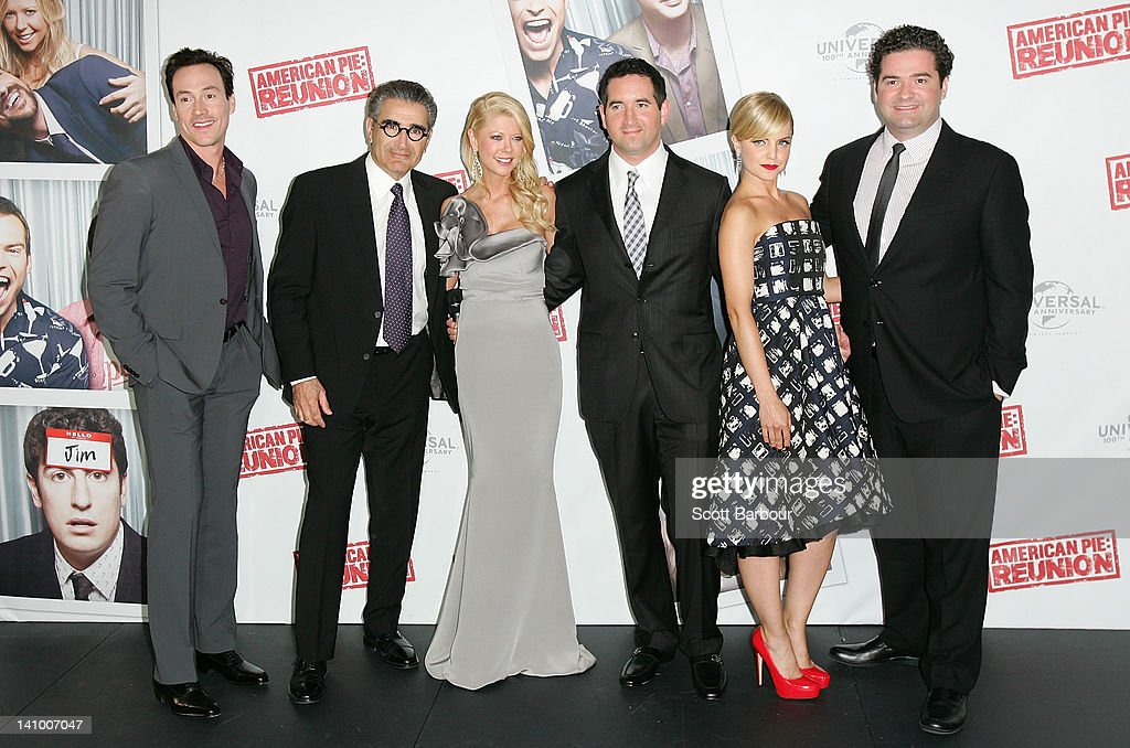 Chris Klein, Eugene Levy, Tara Reid, Hayden Schlossberg, Mena Suvari and Jon Hurwitz arrive at the Australian premiere of 'American Pie: Reunion' on March 7, 2012 in Melbourne, Australia.