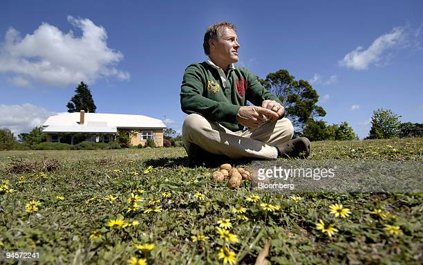 Chris LandonLane consultant for Asia Development Bank organic walnut farmer and antimill campaigner poses for a photograph on his property near...