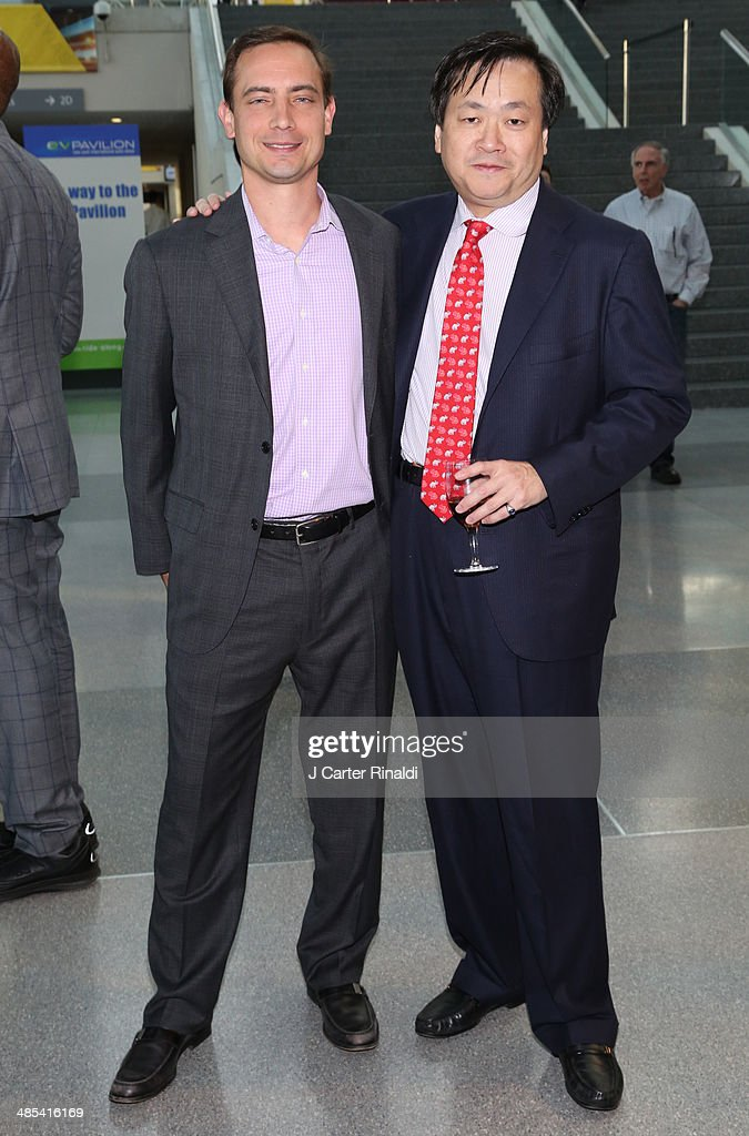 Chris LaSusa and Philip L. Young attend the East Side House Gala Preview during the 2014 New York Auto Show at the Jacob Javits Center on April 17, 2014 in New York City.