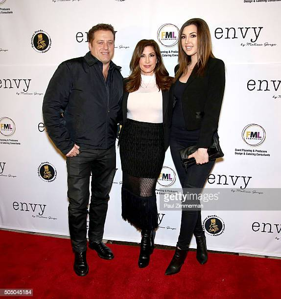 Chris Laurita Jacqueline Laurita and Ashlee Holmes attend the Grand Opening of envy by Melissa Gorga Boutique on January 14 2016 in Montclair New...