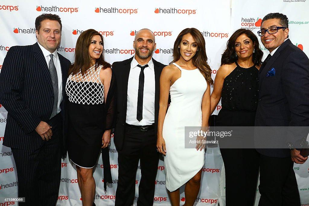Chris Laurita, Jacqueline Laurita, Joe Gorga, Melissa Gorga, Kathy Wakile and Richard Wakile attend HealthCorp's 9th Annual Gala at Cipriani Wall Street on April 29, 2015 in New York City.