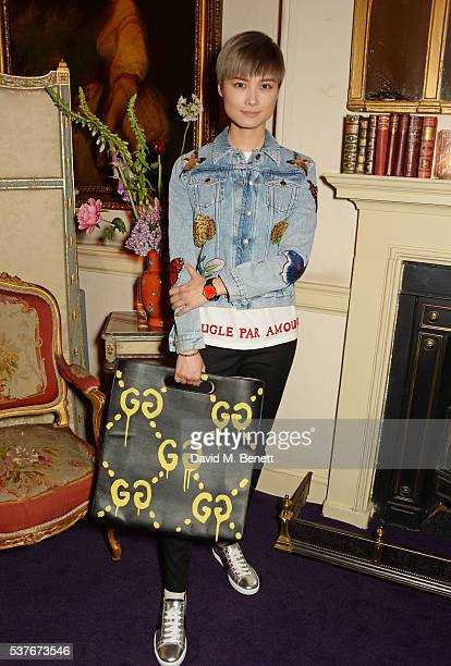Chris Lee attends the Gucci party at 106 Piccadilly in celebration of the Gucci Cruise 2017 fashion show on June 2 2016 in London England