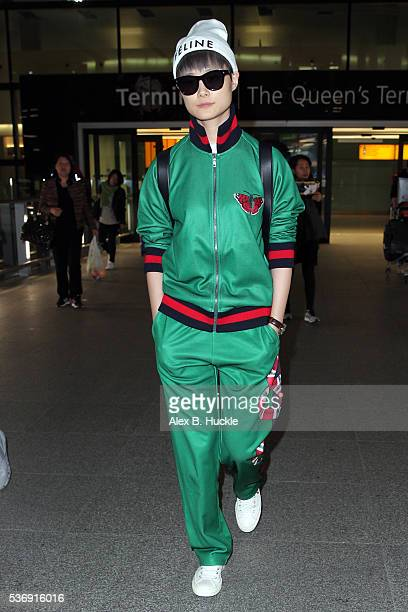Chris Lee seen arriving at Heathrow Airport on June 1 2016 in London England