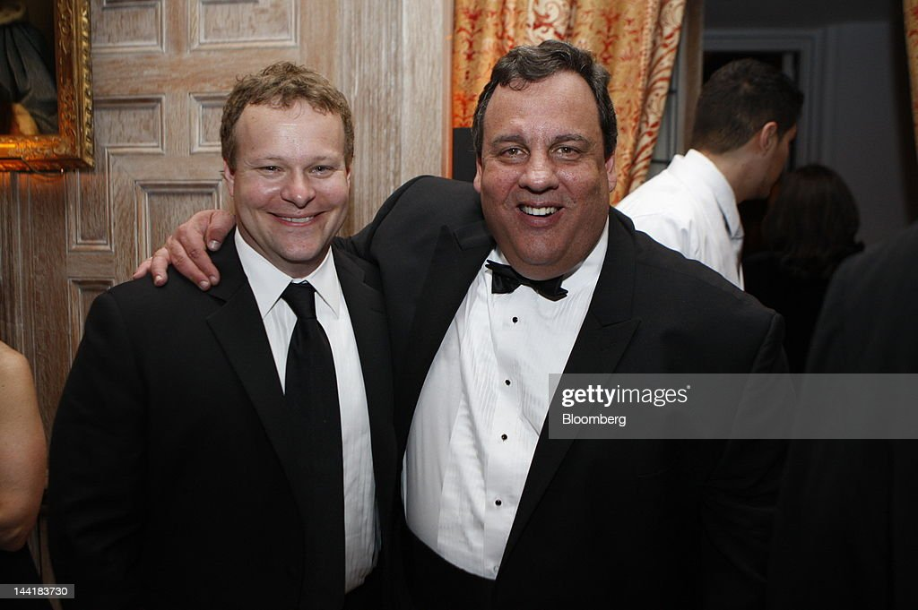 Chris Licht, vice president of programming and executive producer at CBS News Inc., left, and <a gi-track='captionPersonalityLinkClicked' href=/galleries/search?phrase=Chris+Christie&family=editorial&specificpeople=6480114 ng-click='$event.stopPropagation()'>Chris Christie</a>, governor of New Jersey, attend the Bloomberg Vanity Fair White House Correspondents' Association (WHCA) dinner afterparty in Washington, D.C., U.S., on Saturday, April 28, 2012. The 98th annual dinner raises money for WHCA scholarships and honors the recipients of the organization's journalism awards. Photographer: Joshua Roberts/Bloomberg via Getty Images