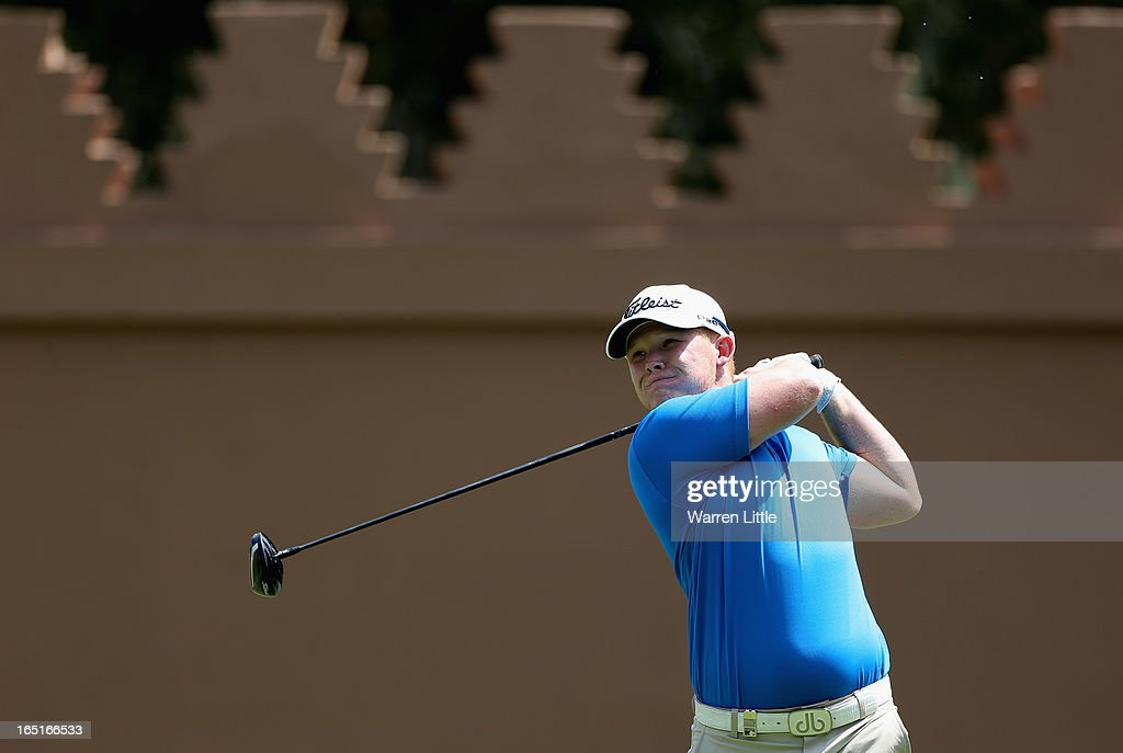 Chris Lloyd of England in action during the final round of the Trophee du Hassan II Golf at Golf du Palais Royal on March 31, 2013 in Agadir, Morocco.