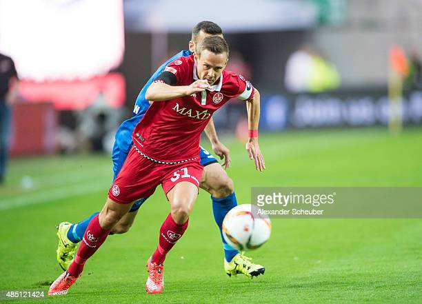 Chris Loewe of 1 FC Kaiserslautern during the second Bundesliga match between 1 FC Kaiserslautern and SC Paderborn at FritzWalterStadion on August 24...