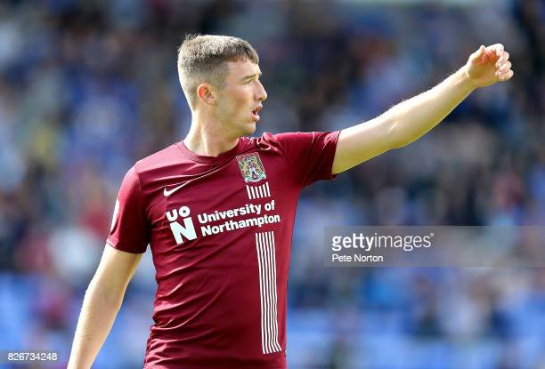 Chris Long of Northampton Town in action during the Sky Bet League One match between Shrewsbury Town and Northampton Town at New Meadow on August 5...