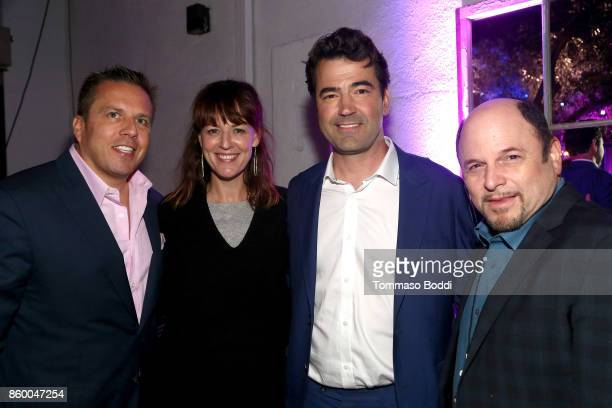 Chris Long Rosemarie DeWitt Ron Livingston and Jason Alexander attend the ATT AUDIENCE Network Premieres 'Loudermilk' And 'Hit The Road' on October...