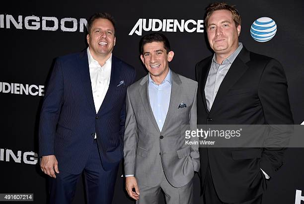 Chris Long Senior Vice President Original Content and Production ATT sports broadcaster Andrew Siciliano and Bart Peters Vice President Development...