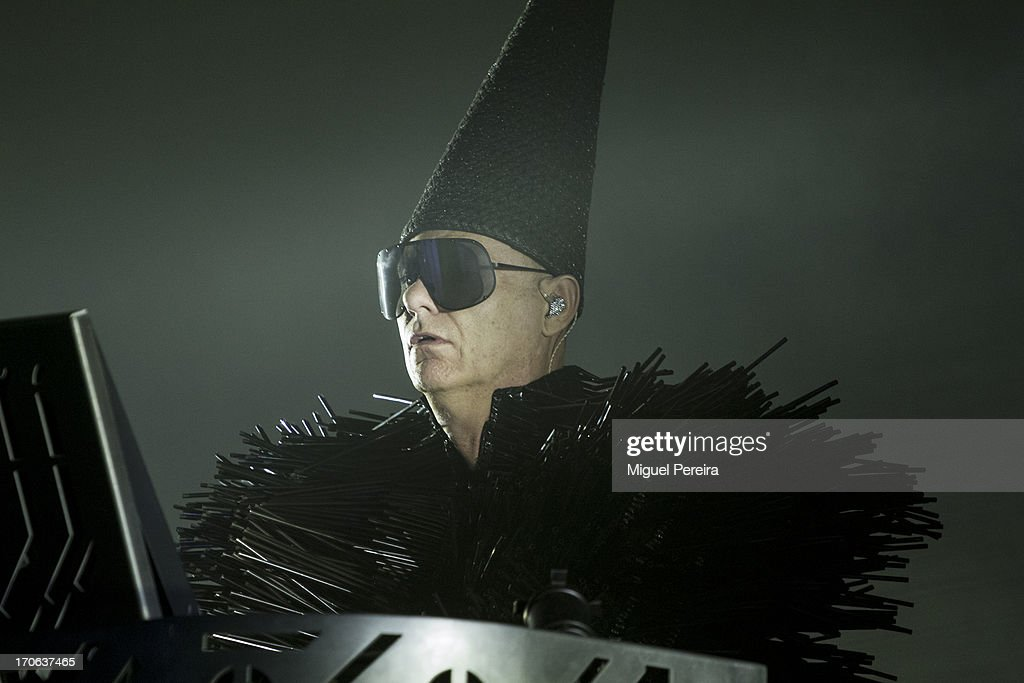 Chris Lowe of Pet Shop Boys performing live at Sonar on June 15, 2013 in Barcelona, Spain.