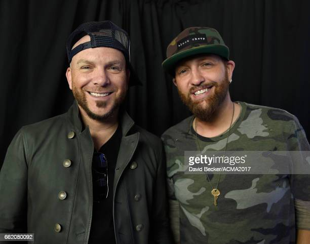 Chris Lucas and Preston Brust of LOCASH attend the 52nd Academy Of Country Music Awards Cumulus/Westwood One Radio Remotes at TMobile Arena on March...