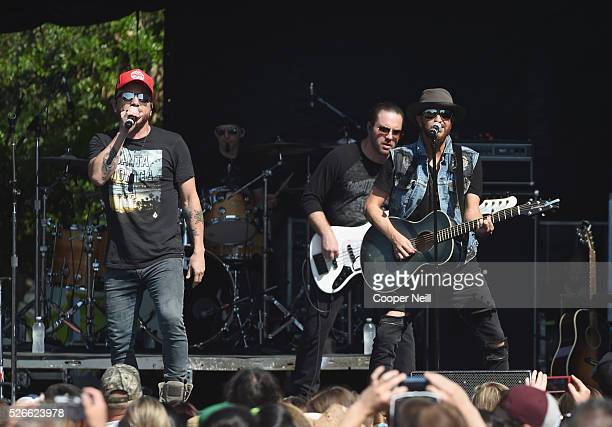 Chris Lucas and Preston Brust of LOCASH perform live during the 2016 Daytime Village at the iHeartCountry Festival at The Frank Erwin Center on April...