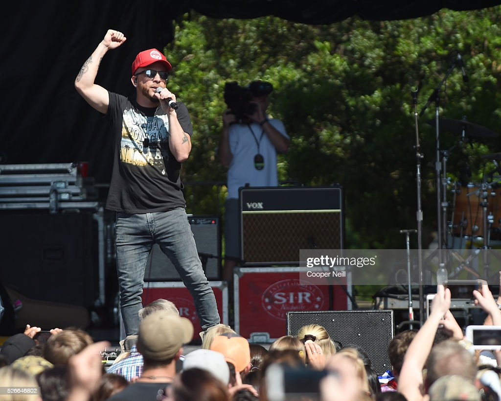 Chris Lucas of LOCASH performs live during the 2016 Daytime Village at the iHeartCountry Festival at The Frank Erwin Center on April 30, 2016 in Austin, Texas.