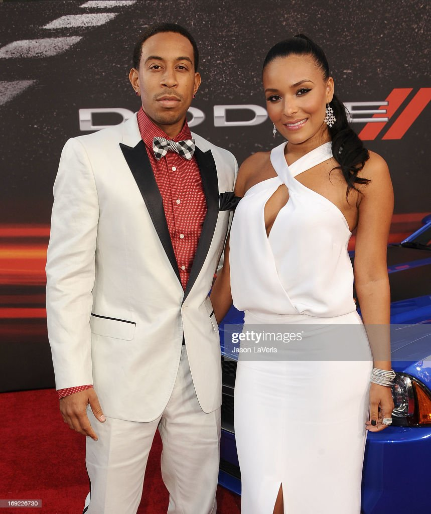 Chris 'Ludacris' Bridges and Eudoxie Agnan attend the premiere of 'Fast & Furious 6' at Universal CityWalk on May 21, 2013 in Universal City, California.