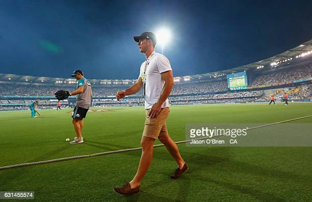 Chris Lynn during the Big Bash League match between the Brisbane Heat and the Perth Scorchers at The Gabba on January 11 2017 in Brisbane Australia