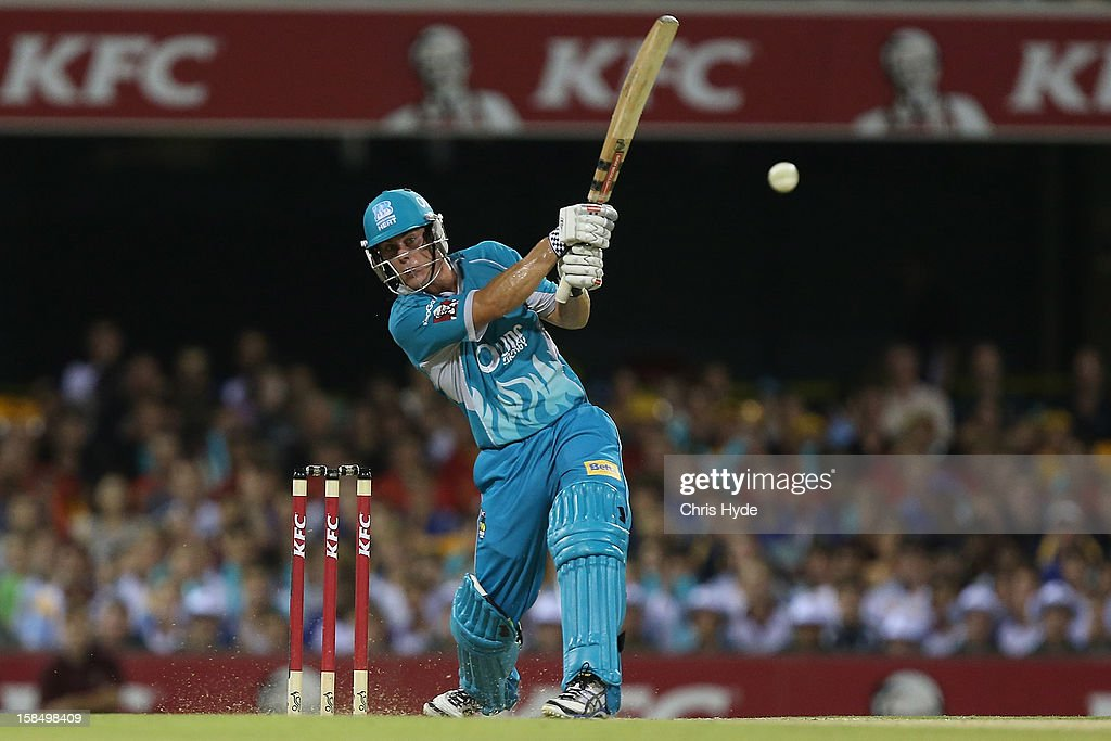 Chris Lynn of the Heat bats during the Big Bash League match between the Brisbane Heat and the Perth Scorchers at The Gabba on December 18, 2012 in Brisbane, Australia.