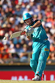 Chris Lynn of the Heat bats during the Big Bash League match between the Perth Scorchers and the Brisbane Heat at WACA on December 26 2015 in Perth...