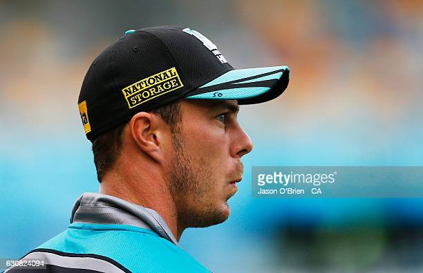 Chris Lynn of the Heat during the Big Bash League match between the Brisbane Heat and Sydney Sixers at The Gabba on January 3 2017 in Brisbane...