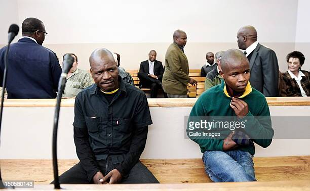 Chris Mahlangu and his coaccused Patrick Ndlovu appear in court for sentencing in connection with the murder of AWB Leader Eugene Terre'blanche on...
