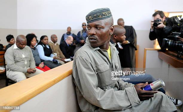 Chris Mahlangu and Patrick Ndlovu appear in court in connection with the murder of AWB Leader Eugene Terre'Blanche on August 20 2012 in Ventersdorp...