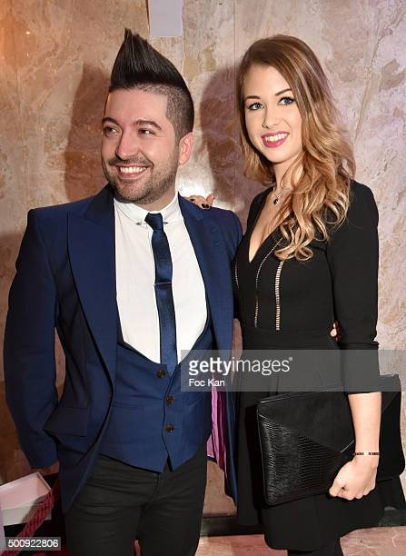Chris Marques and Enjoy Phoenix attend the 'The Bests 2015' Awards Ceremony At Salons Hoche on December 10 2015 in Paris France